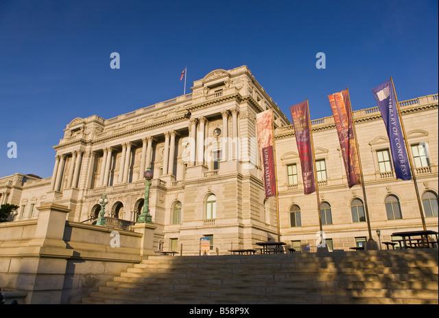 WASHINGTON DC USA-Bibliothek von Kongress-Thomas-Jefferson-Gebäude Stockbild