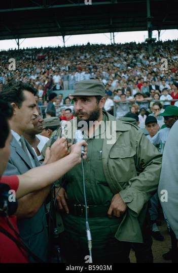 Fidel Castro initiieren die Basketball-Saison 1965, Havanna, Kuba, Karibik, Mittelamerika Stockbild
