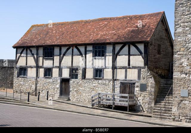 Tudor Händler Hall, Southampton, Hampshire, England, Europa Stockbild