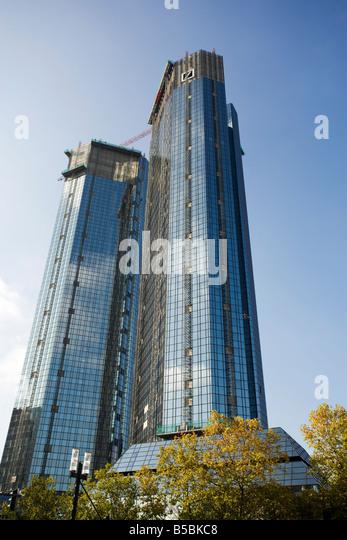 Renovierung der Hauptsitz der Deutschen Bank in Frankfurt, Deutschland, Herbst 2008 Stockbild