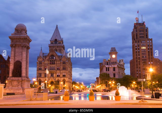 Clinton Square, Syracuse, New York State, USA, Nordamerika Stockbild