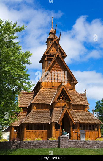 Scandinavian Heritage Park, Minot, North Dakota, USA, Nordamerika Stockbild