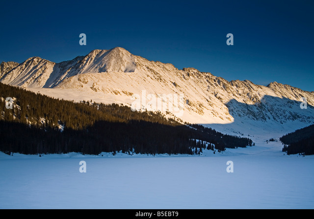 Clinton Reservoir, Fremont Pass, Rocky Mountains, Colorado, USA, Nordamerika Stockbild