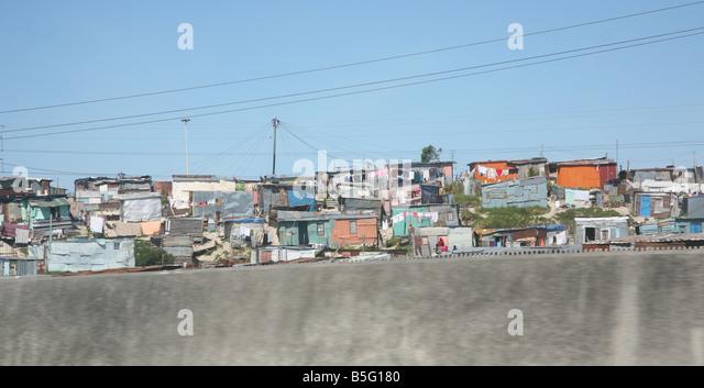 Cape flats Township-Cape Town-Südafrika Stockbild
