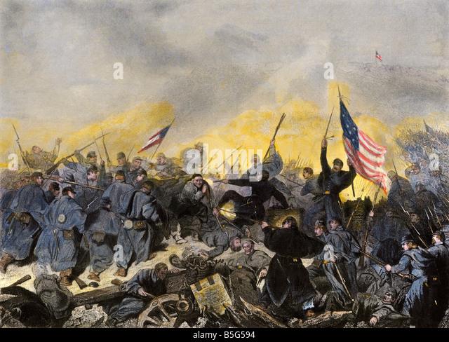 Eroberung von Fort Donelson Tennessee durch Union Kräfte unter General U.S. Grant 1862 Stockbild