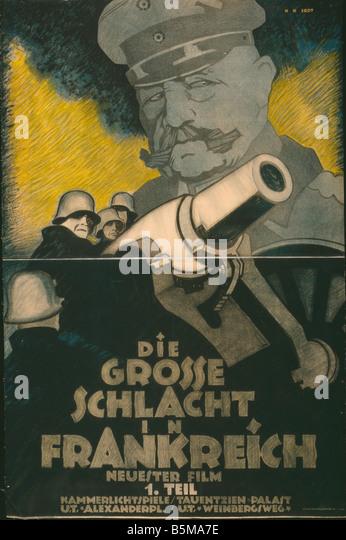 2 G55 P1 1918 83 WWI die große Schlacht Film Poster Geschichte Weltkrieg Propaganda sterben Grosse Schlacht Stockbild