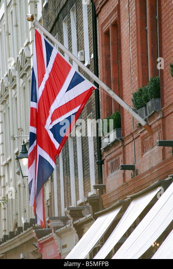 Anschluß-Markierungsfahne Union Jack Stockbild