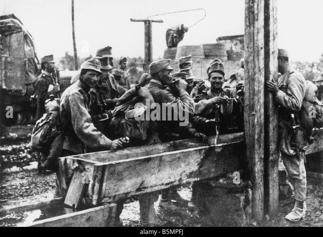 9 1915 0 0 A3 E Isonzo Schlachten österreichischen Soldaten 1915 1. Weltkrieg italienischen Front Isonzo Schlachten Stockbild