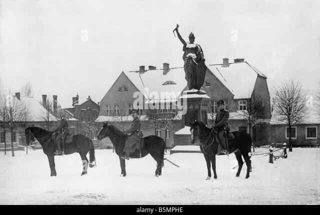 9 1916 0 0 A7 3 russische im Truppen 1. Weltkrieg Stalluponen 1916 russische Truppen besetzen Teil Ostpreußens Stockbild