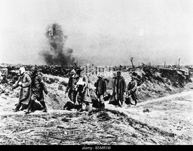 9 1916 9 25 A1 E The Somme deutschen Kriegsgefangenen Foto 1916 WWI 1914-18 Western Front Schlacht an der Somme Stockbild
