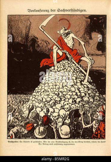 9 1917 8 0 C1 ausgehandelten Frieden 1917 Karikatur Erster Weltkrieg 1914-18 Frieden Versuche zu Friedensverhandlungen Stockbild