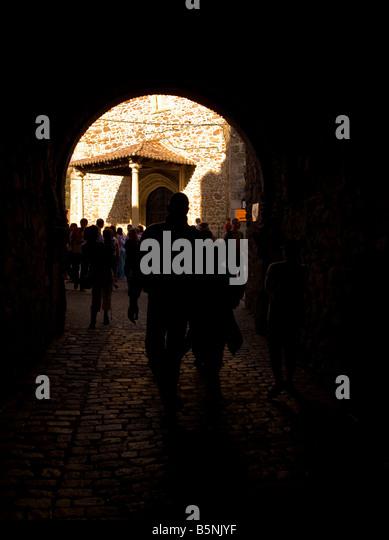Buitrago de Lozoya, Gateway Festung, Madrid, Spanien, España, UE [Crossing Kulturen] Stockbild