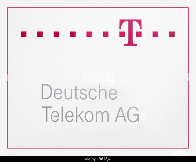Logo der Deutschen Telekom AG mit Logo Stockbild