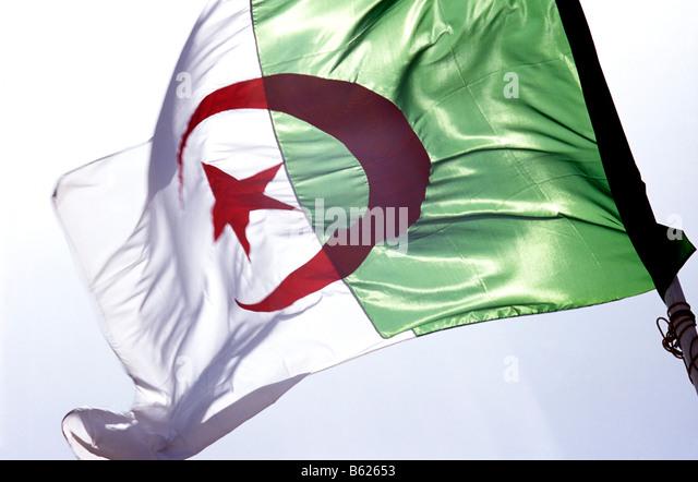 Flagge, Algerien Stockbild