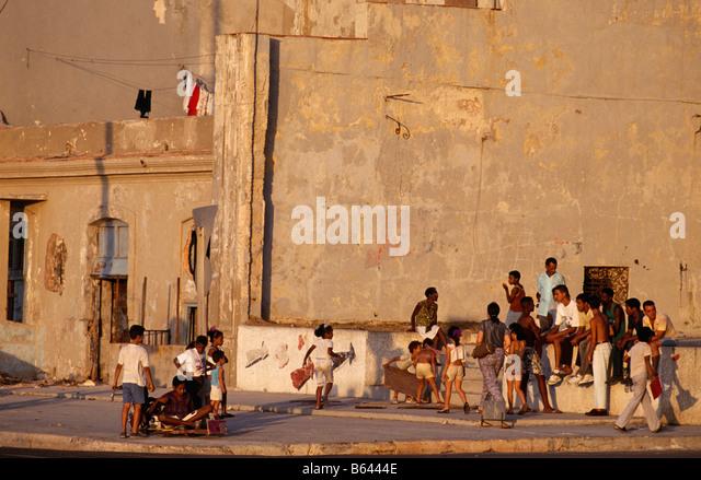 Straßenszene in Havanna Kuba 1993 Stockbild