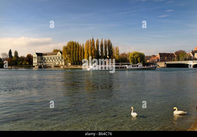 Die Inseln Hotel auf dem Bodensee, Bodensee, Deutschland Stockbild