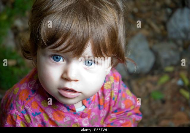 1 Jahr altes Babymädchen Stockbild