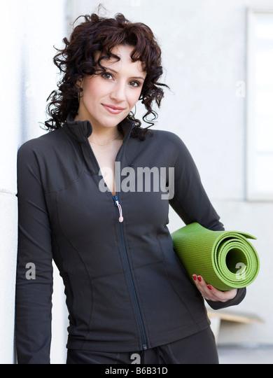 Frau beim yoga Stockbild