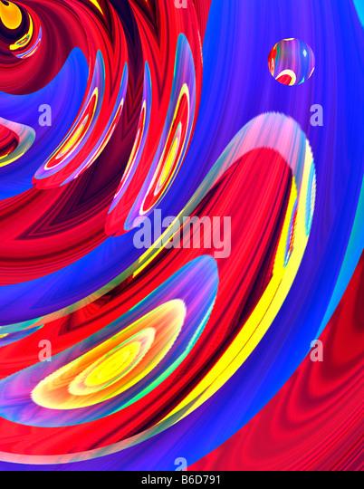 Konzeptionelle abstrakte Kunst Stockbild