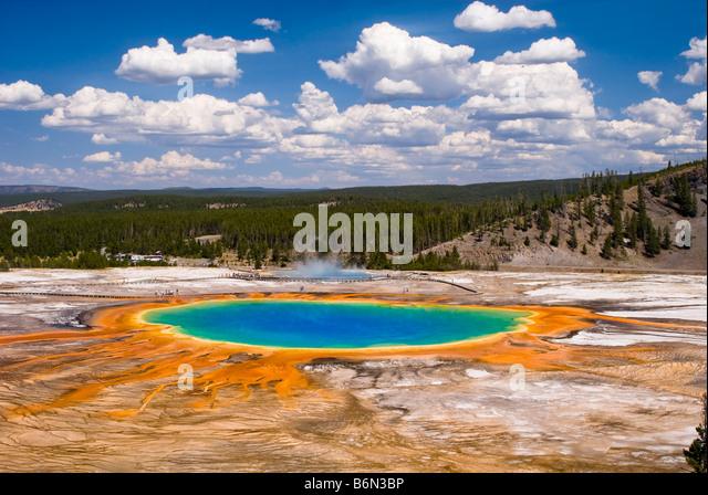 Erhöhte Ansicht des Grand Bildobjekte Federn, Yellowstone-Nationalpark, Wyoming, USA Stockbild