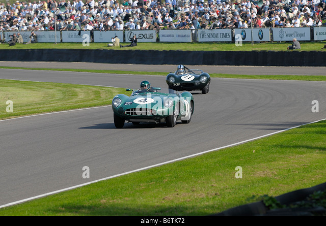 Beim Goodwood Revival meeting September 2008 Aston Martin DBR1 2992cc 1959 Wolfgang Friedrichs Stockbild