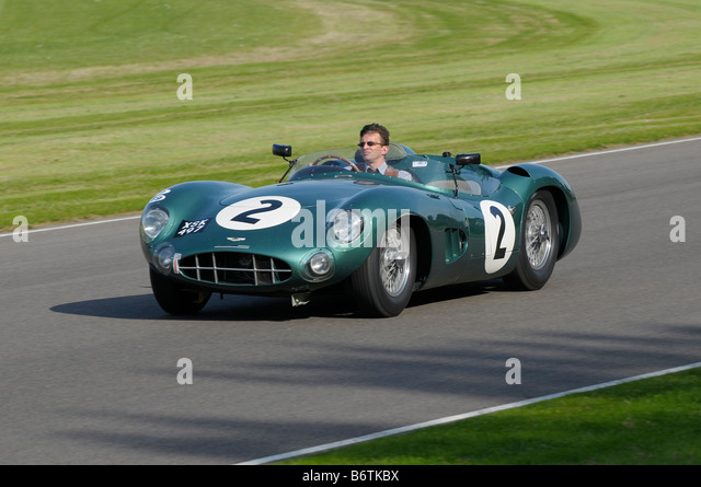 Beim Goodwood Revival meeting September 2008 Aston Martin DBR1 2992cc 1957 Tony Dron Stockbild
