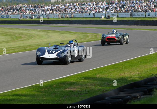 Beim Goodwood Revival meeting September 2008 Kellison Chevrolet J4 1958 5555cc Martin Walford Stockbild