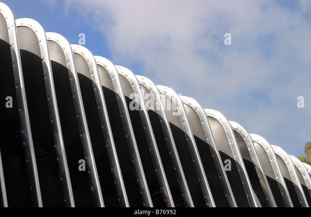 flexible Konzertina Mittelteil eines bendy-Busses Stockbild