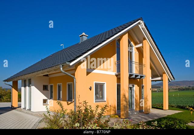 Architektur Einfamilienhaus, family home - Stock-Bilder