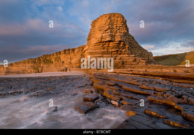 Nash Point, Glamorgan Heritage Coast Stockbild