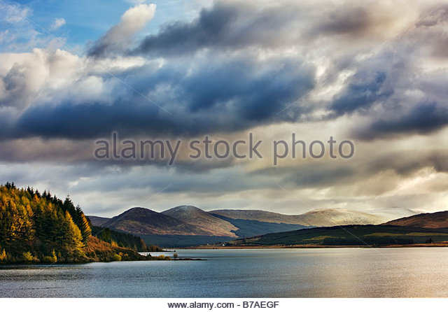 Loch Doon, Dumfries and Galloway, Schottland, Großbritannien Stockbild