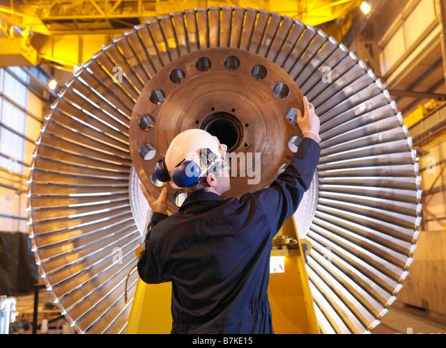Ingenieur-Inspektion Turbine Stockbild