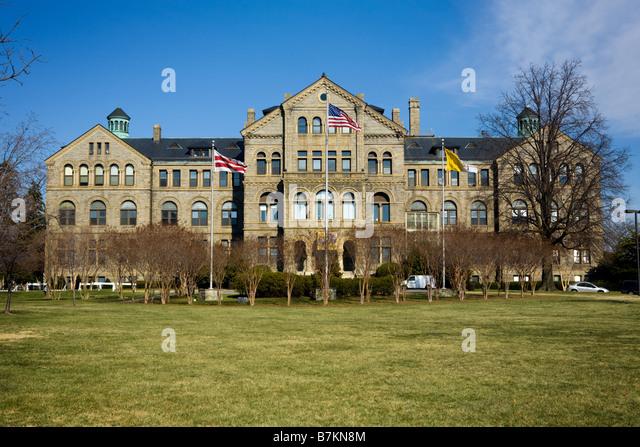Katholische Universität von Amerika Brookland Abschnitt von Washington D.C. Stockbild