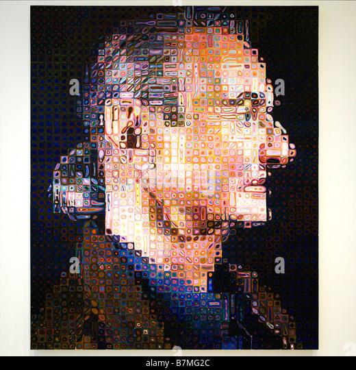 "'Roy ii"" von Chuck Close, 1994 - Smithsonian National Gallery, Washington, Dc, USA Stockbild"