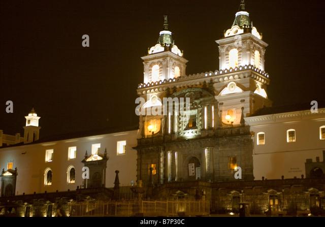 Ecuador Quito San Francisco Kirche & Kloster Stockbild