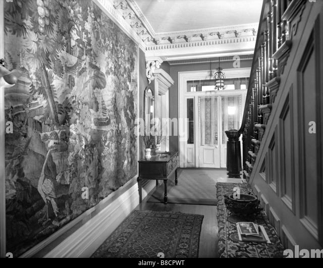 Viktorianisches Haus, Montreal, Quebec, ca. 1800 s Stockbild