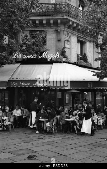 Les Deux Magots Café, Quartier Latin, Paris, Frankreich Stockbild