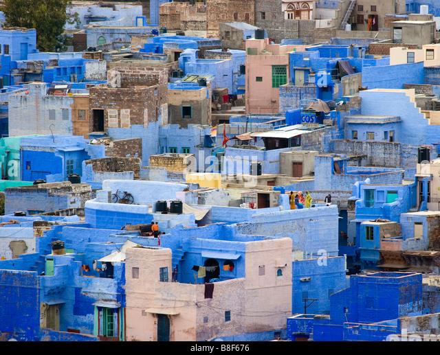 City View Jodhpur Rajasthan Indien Stockbild