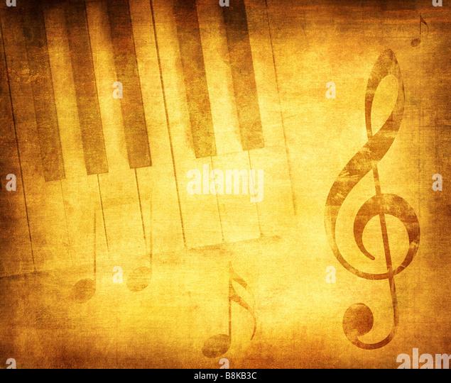 Grunge-Musik-Hintergrund mit Platz für Text oder Bild Stockbild