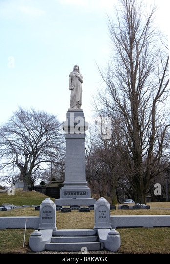 Denkmal auf dem Greenwood Cemetery in Brooklyn NY Stockbild