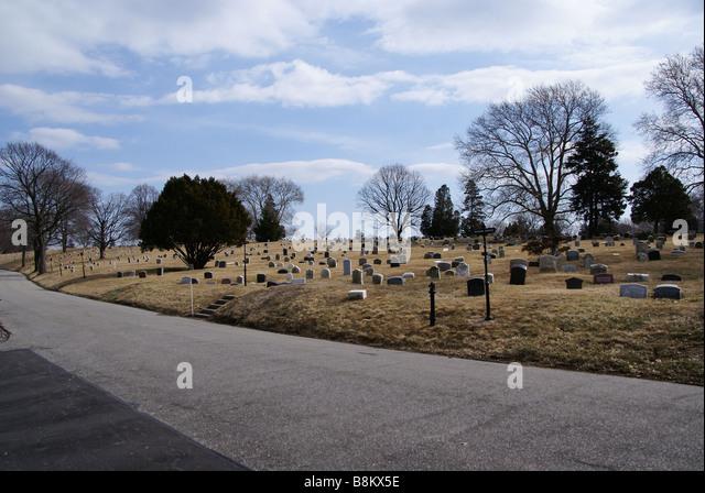 Greenwood Cemetery in Brooklyn New York Stockbild