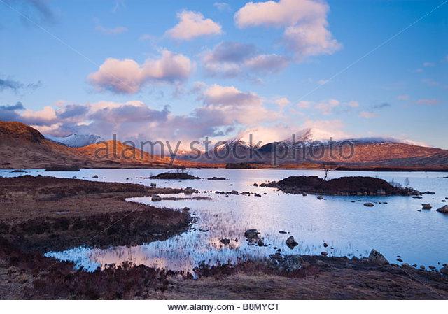 Clearing-Sturm über man Na h'Achlaise und der schwarze Berg, Rannoch Moor, schottischen Highlands, UK. Stockbild