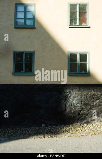 Schweden, Stockholm, Gebäude die Hälfte im Schatten Stockbild