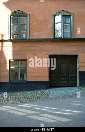 Schweden, Stockholm, Haus außen Stockbild