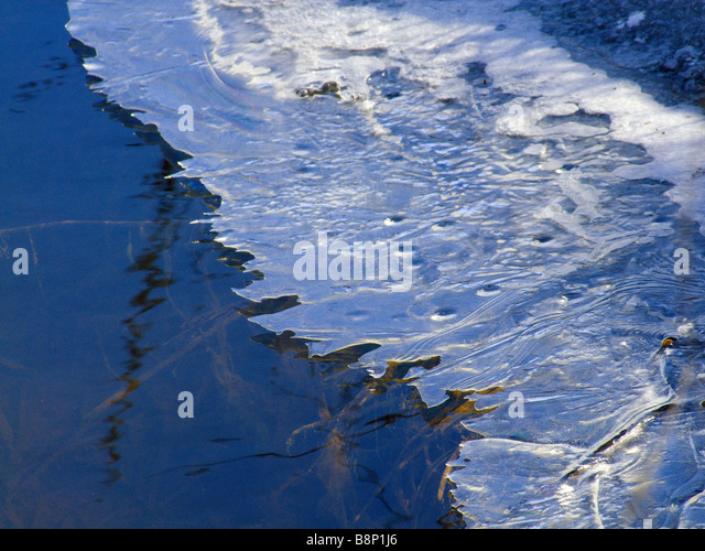 Eis Abstraktionen Stockbild