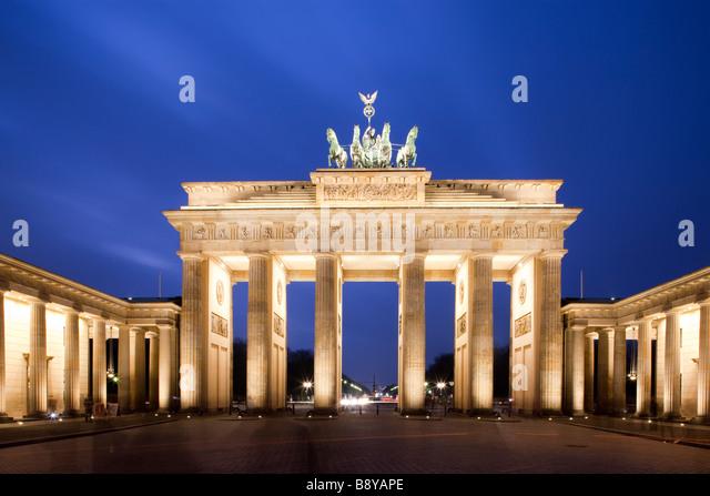 Brandenburger Tor-Pariser Platz, Berlin Deutschland Stockbild