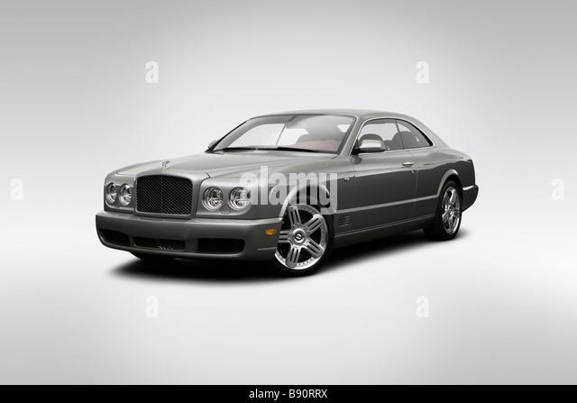 Drehen Sie 2009 Bentley Brooklands in grau - Front Ansicht Stockbild