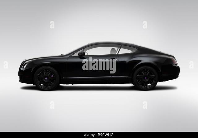 2009 Bentley Continental GT in schwarz - Treiber Seitenprofil Stockbild