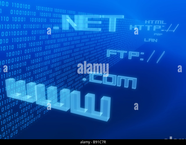 Internet-adresse Stockbild