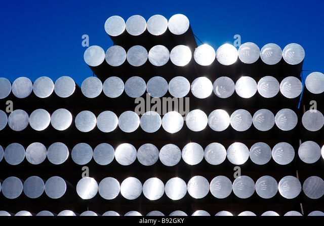 Aluminiumstangen Stockbild